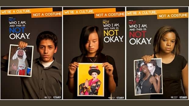 A poster campaign by Ohio University's Students Teaching About Racism in Society fights the use of Halloween costumes that stereotype ethnic groups and cultures.