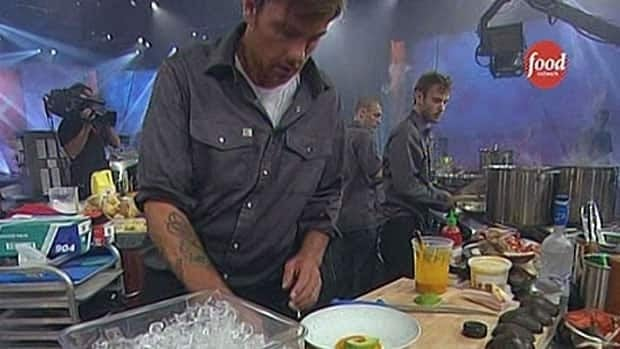 Montreal chef Chuck Hughes competes in Iron Chef America's kitchen stadium.