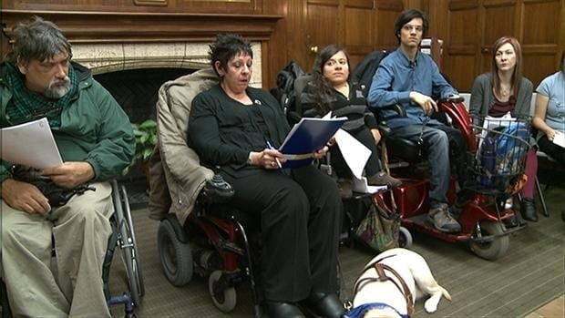 A group of disabled people has filed complaints with the Quebec Human Rights Commission over accessibility to Montreal's public transit system.