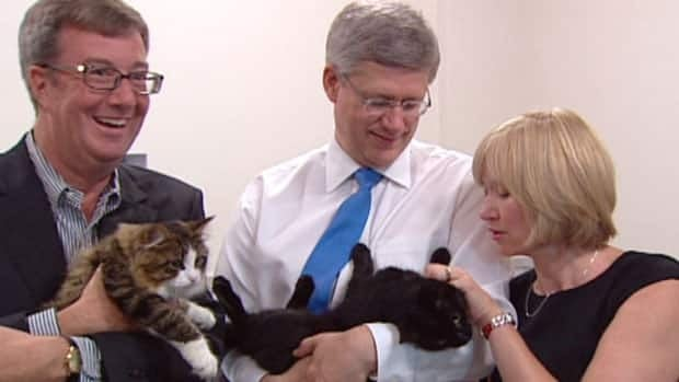 Ottawa mayor Jim Watson, Prime Minister Stephen Harper and Laureen Harper attend the official opening of new Ottawa Humane Society facility.