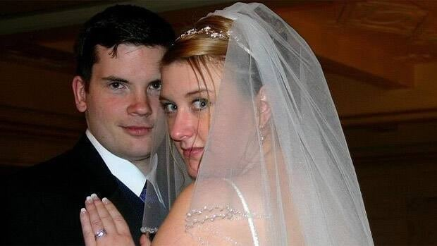 Mark and Jess Twitchell are shown on their wedding day in January 2007.