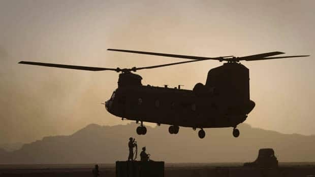 A Chinook transport helicopter, similar to this one, was reported to have been shot down by the Taliban in Wardak province.