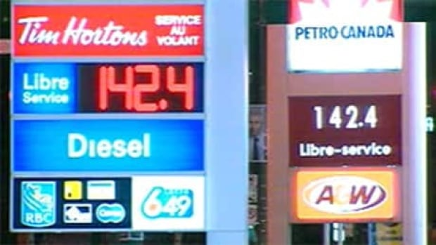 Gas gas selling for $1.42 per litre at many Montreal stations on Tuesday.