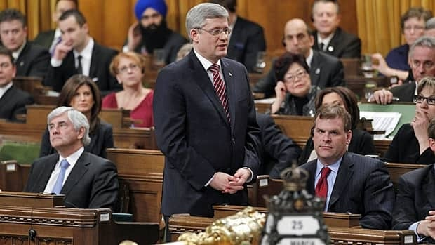 Prime Minister Stephen Harper adjourns Parliament after his government lost a non-confidence motion in the House of Commons on Friday.