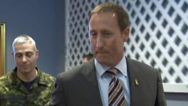 Defence Minister Peter Mackay in Happy Valley-Goose Bay on Sept. 2.