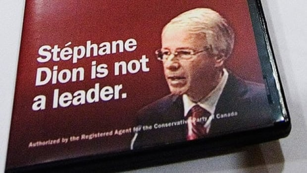 A Tory attack ad featuring the slogan 'Stéphane Dion is not a leader' was released in 2007.