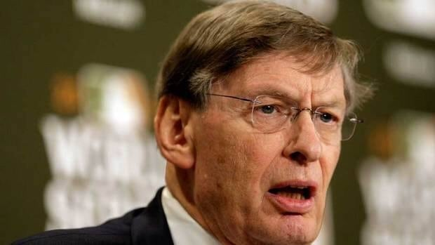 MLB commissioner Bud Selig addresses the media prior to Game Seven of the MLB World Series in October. MLB players and owners will hold a news conference Tuesday to annouce a new labour deal.