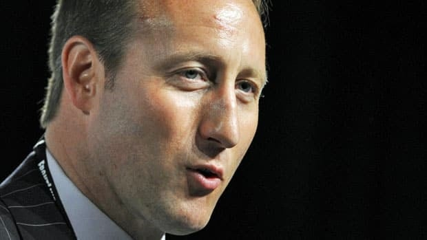 Minister of Defence Peter MacKay delivers a speech at CANSEC 2011, Defence and Security Trade Show, in Ottawa on Thursday. MacKay confirmed the Canadian Forces are considering establishing new bases around the world.