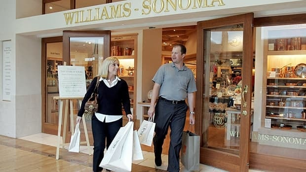 Customers leave the Williams-Sonoma store in Plaza Frontenac shopping mall in Frontenac, Mo., just west of St. Louis.