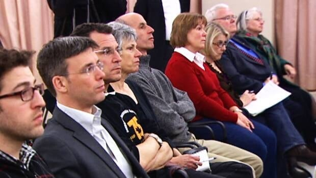 Westboro residents attended a meeting about a controversial condo development Tuesday.
