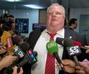Toronto Mayor Rob Ford responds to Coun. Ainslie