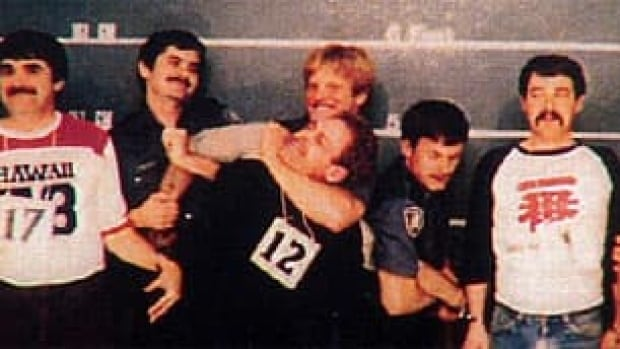 This 1982 Vancouver police lineup photo, showing an officer holding Ivan Henry in a choke hold, was submitted to the B.C. Court of Appeal when it reconsidered Henry's sexual assault conviction in 2010.