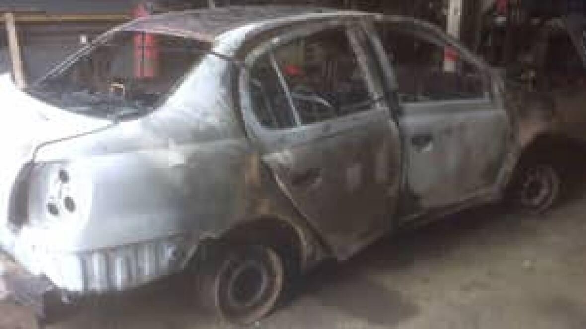 n s cross burning target 39 s car torched nova scotia cbc news. Black Bedroom Furniture Sets. Home Design Ideas