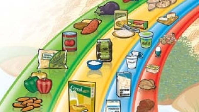 Canadas Food Guide Is Arranged As A Rainbow Divided Into Food Groups Critics Want To Overhaul This Approach Health Canada
