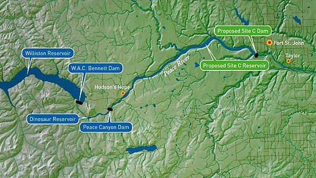 The Site C project in northeastern B.C. would be the third hydro dam on the Peace River.