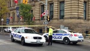 Langevin Block Wellingston Street evacuated suspicious package