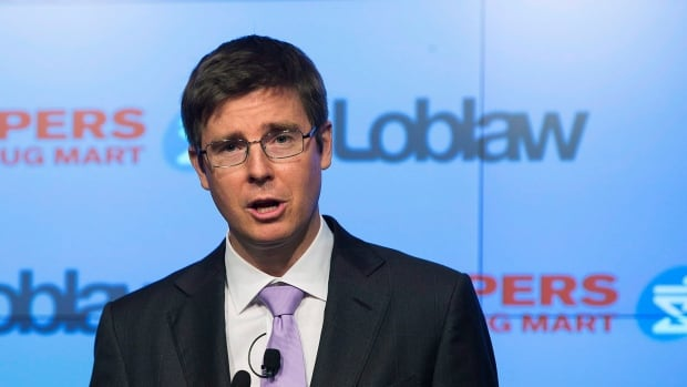 Galen Weston Jr., executive chairman of Loblaw, announces the Shoppers Drug Mart deal in July. Today, Loblaw is announcing layoffs.