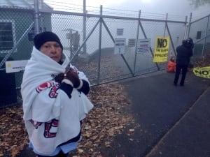 Greenpeace protesters at Kinder Morgan