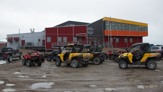The high school in Arviat. School attendance in Nunavut is now at 70 per cent.
