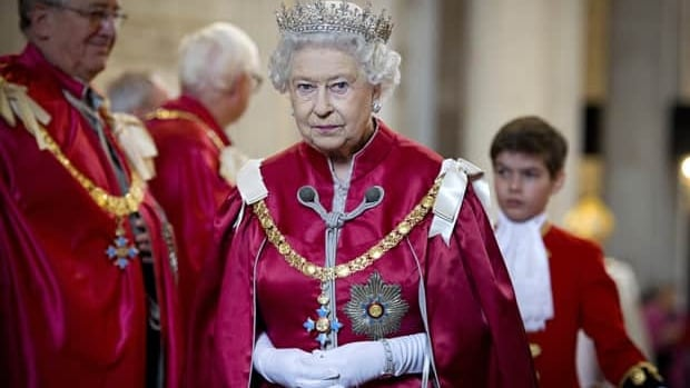 The Queen attends a service for the Order of the British Empire at St. Paul's Cathedral in London on March 7, 2012.