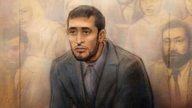 Saad Gaya, shown here in a court sketch, is serving an 18-year sentence for his role in the Toronto 18 bomb plot.