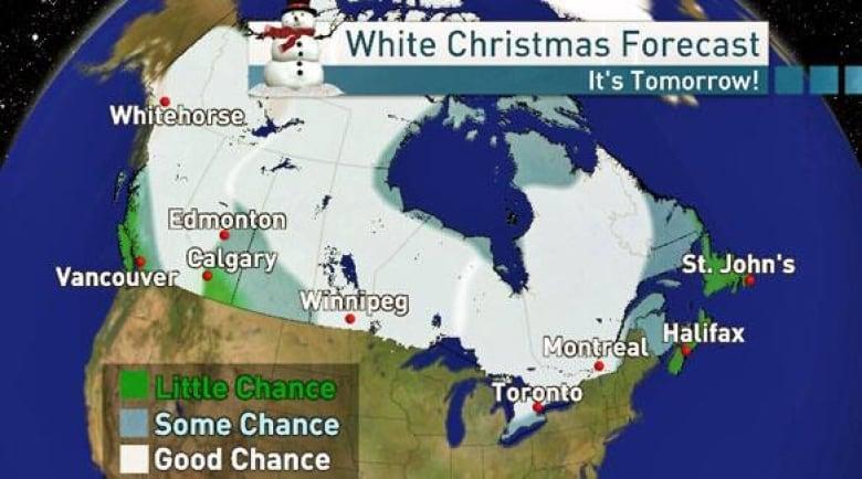 White Christmas Forecast.Chances Vary For A White Christmas Cbc News
