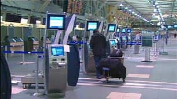 A New Westminster man claims to have injured himself after being left, disoriented, to fend for himself at Vancouver International Airport.