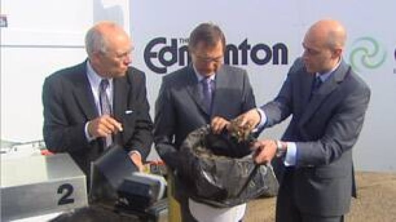 Garbage-to-biofuel plant launched in Edmonton | CBC News
