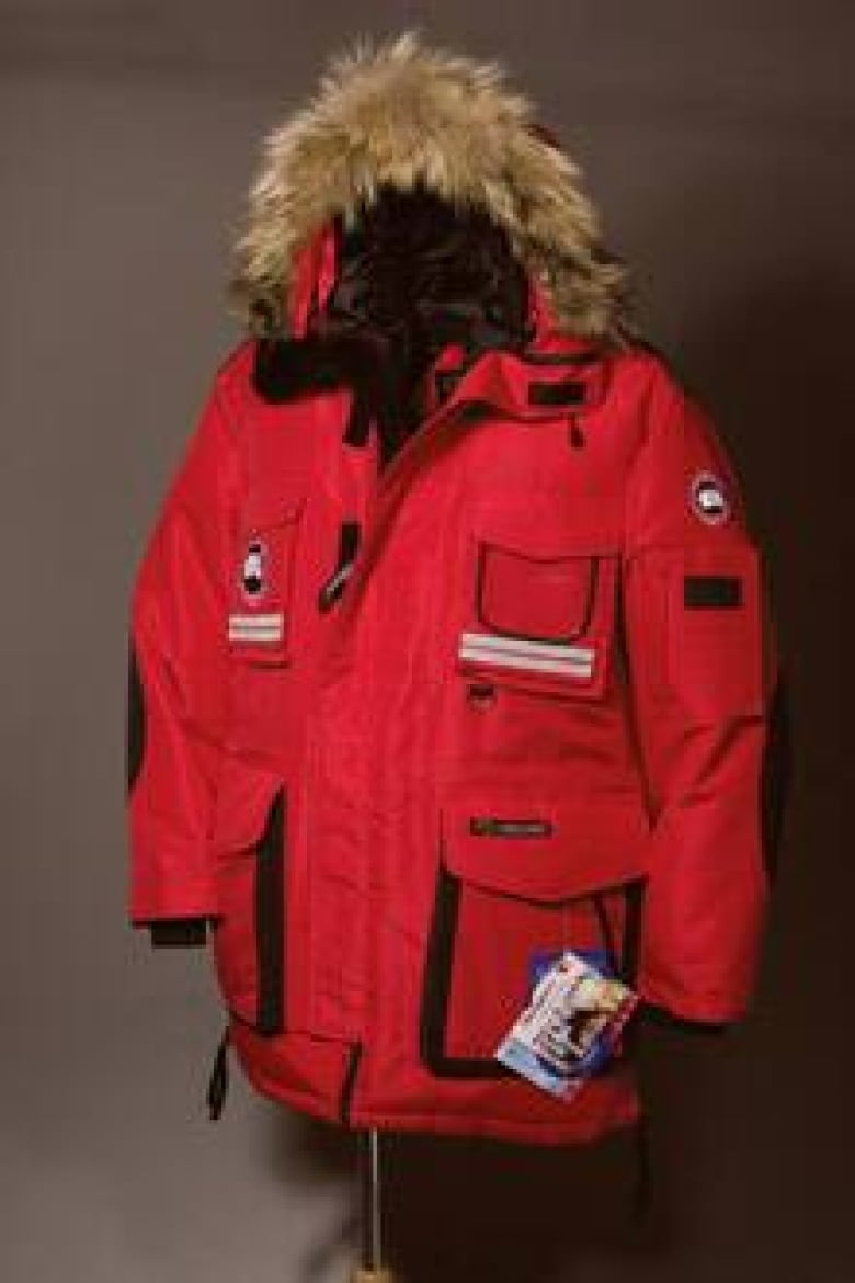 ad30266b2325 Canada Goose says it is hard to distinguish between its genuine goose-down  jackets and cheap knockoffs. This one is a counterfeit. ((Canada Goose)) Canada ...