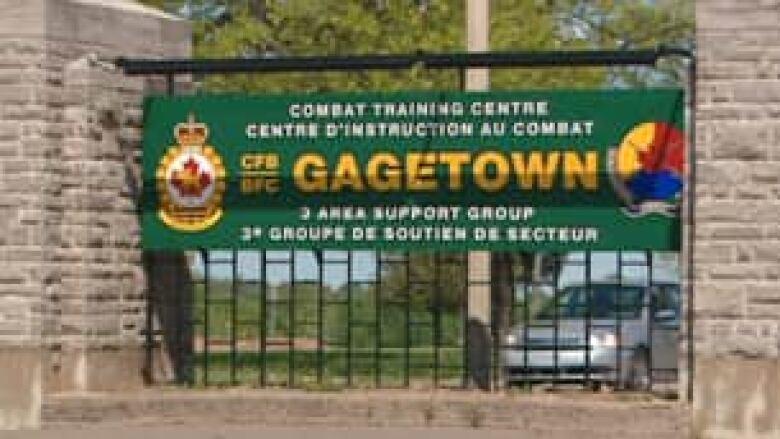 Afghanistan veteran identified as man who died at CFB Gagetown Tp-nb-cfb-gagetown-gate