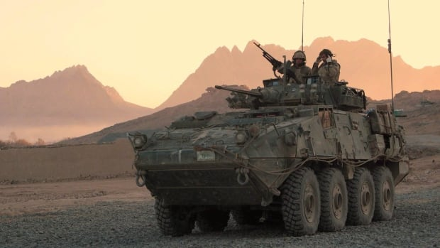 LAVs (light armoured vehicles) and components similar to the one pictured above are among the top military exports Canada sends to Saudi Arabia.