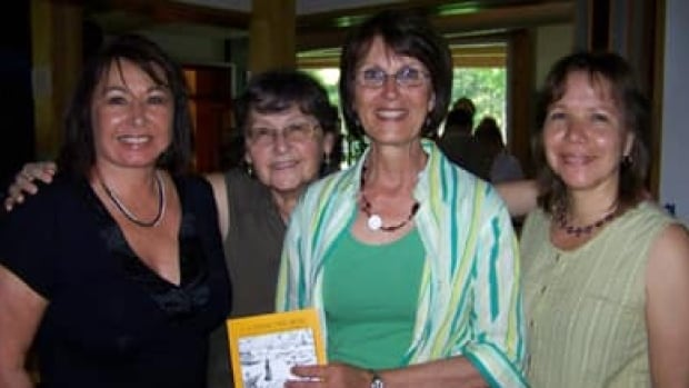 Lemay (centre) with (left to right) Hilda Nicholas of the Kanesatake Cultural Centre, Arlette Van den Hende (co-author of At the Woods' Edge) and Ellen Gabriel, head of the Quebec Native Women's Association.
