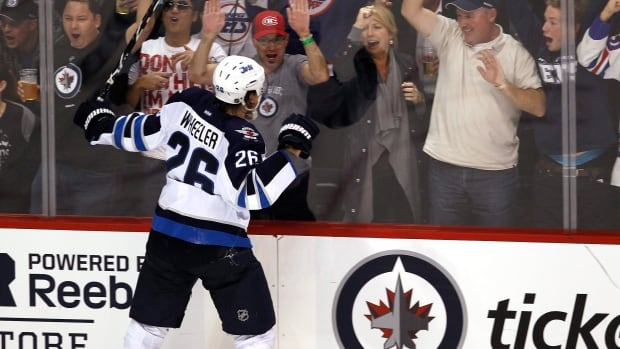 The Winnipeg Jets are hoping for more moments like these from Blake Wheeler, whose production this season so far has been less than stellar. John Woods/Canadian Press