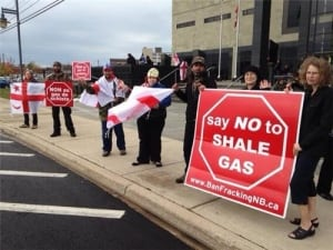Shale gas protesters