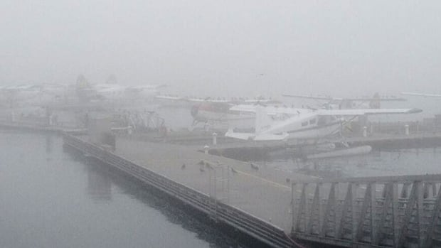 Float planes and other regions flights around B.C. were grounded on Friday, and then again on Monday morning because of heavy fog.