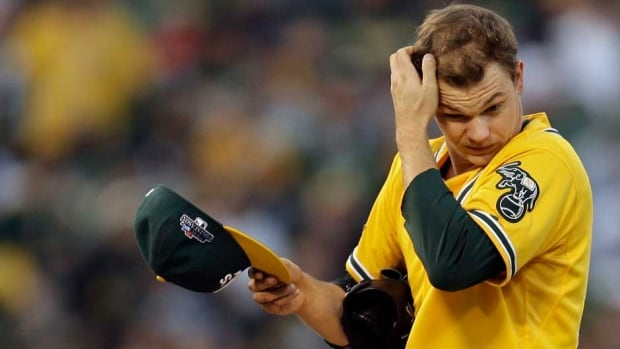 Oakland Athletics starter Sonny Gray went 5-3 with a 2.67 ERA in 12 games and 10 starts this year.