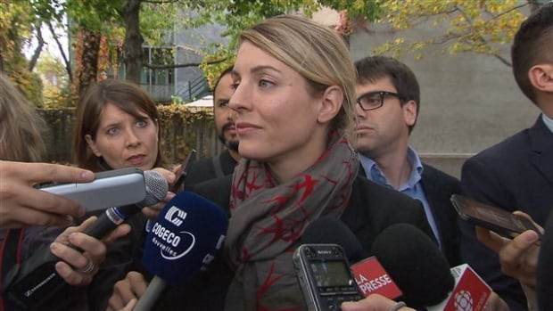 Mélanie Joly says she will stand by her choice of Bibiane Bovet as a candidate in her party, even though Bovet worked in the sex trade until a year and a half ago.