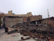 New Westminster fire site debris