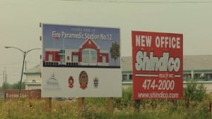 Taylor Avenue fire hall signs