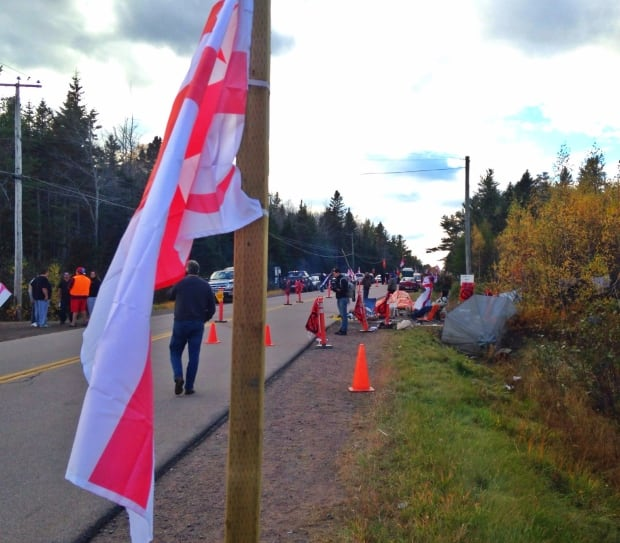 N.B. fracking protesters