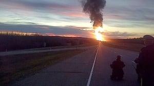Gainford Alberta derailment