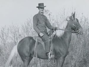 Lawrence S. Gordon on horseback