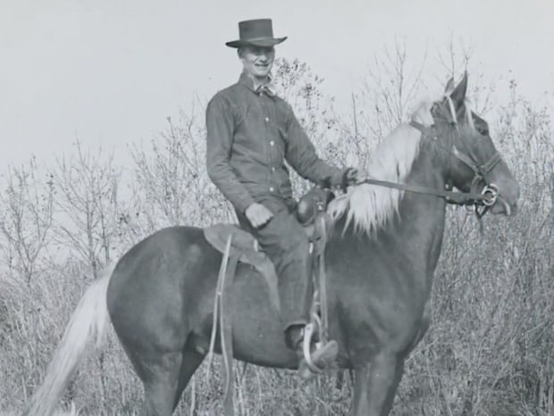 Lawrence S. Gordon on horseback