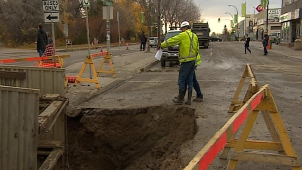 A severe water main break on College Avenue was the reason for the cancellation of all classes and non-critical services at the university.