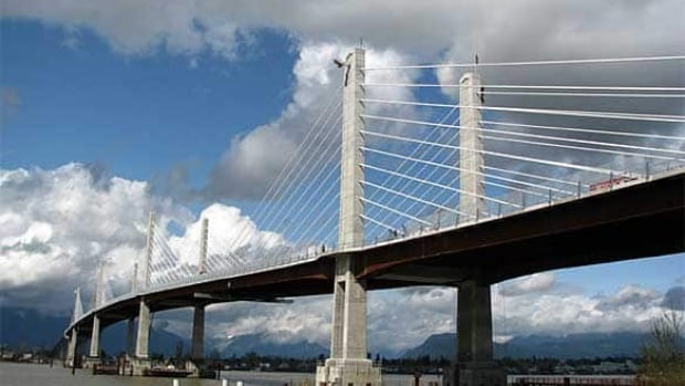 The Golden Ears Bridge is one of two tolled bridges in Metro Vancouver.