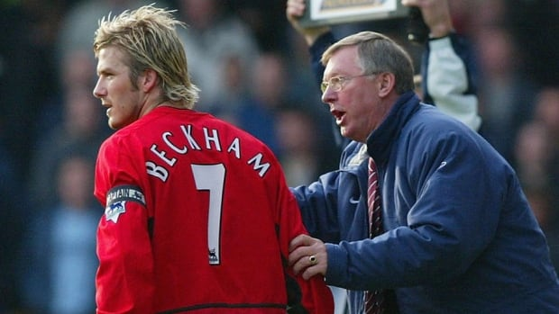 Manchester United manager Sir Alex Ferguson, right, seen here giving instruction to David Beckham when their relationship appeared strong. It seemingly began to sour following a February 2003 match against Arsenal.
