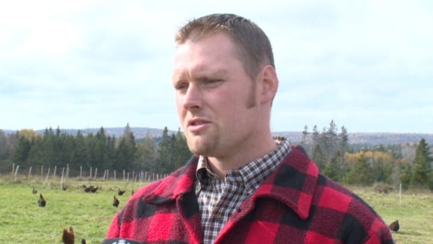 Lake George farmer Aaron Hiltz is fighting Nova Scotia's egg quota system. He wants to keep 700 pastured hens without a quota.