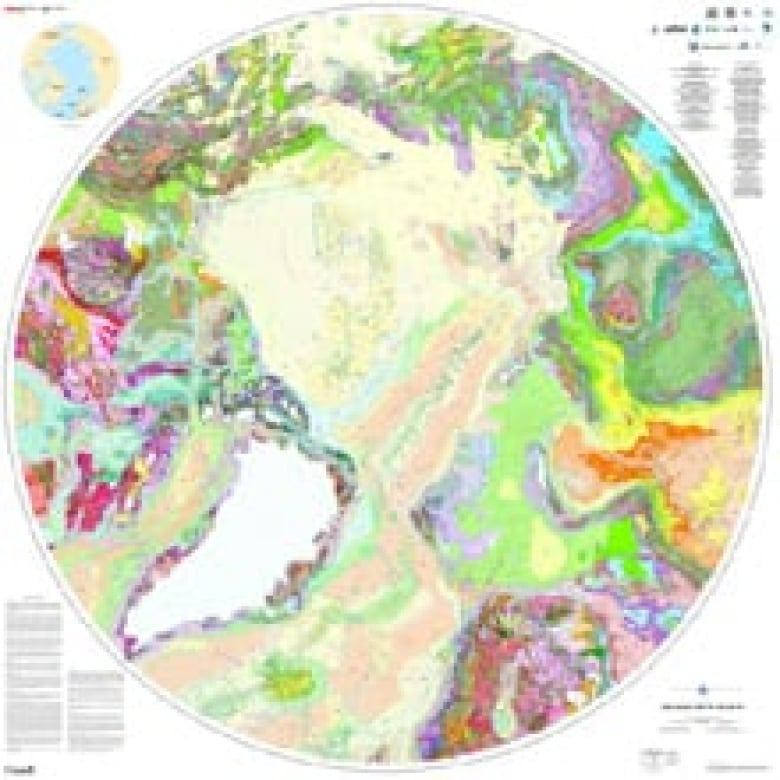Map Of Canada Resources.New Map Of Arctic Could Point To Canadian Gas Minerals Cbc News