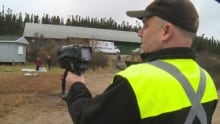 Craig Porter demonstrates new thermal imaging camera