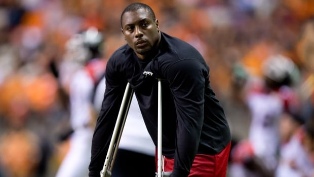 Calgary Stampeders' Nik Lewis has been fined by the CFL for using social media to criticize league officials. Lewis is currently injured.